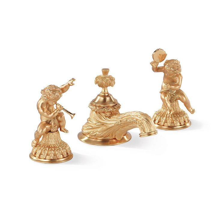 Sherle Wagner Clic Cherub Angel Collection Of Faucets And Bathroom Accessories Is Graceful Playful