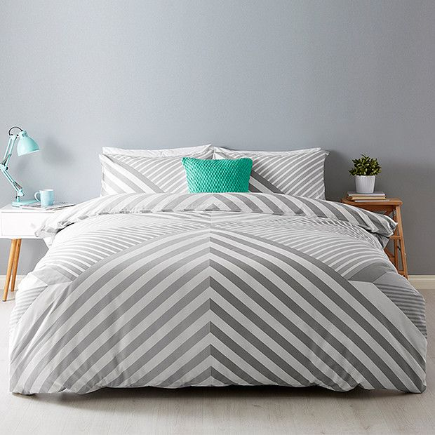 Awesome Our On Trend Metric Quilt Cover Set Brings A Stylish New Feel To Your  Bedding. Made From A Soft, Comfy Cotton Poly Blend, This Set Is Finished  With A. Nice Ideas