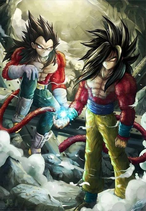 Super Saiyan 4 Goku And Vegeta Who Is Hotter Hmmm Vegeta Left Goku Right 0 O Coughvegetacough Dragon Ball Personajes De Dragon Ball Dragones