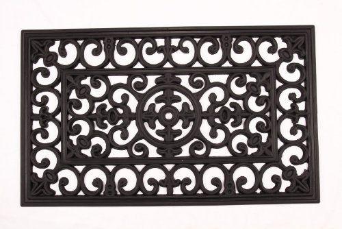 Kempf Rubber Scroll Doormat Rectangular By William F Kempf Cocomats 17 95 Intricate Pattern Resembles Wrou Door Mat Outdoor Door Mat Contemporary Door Mats