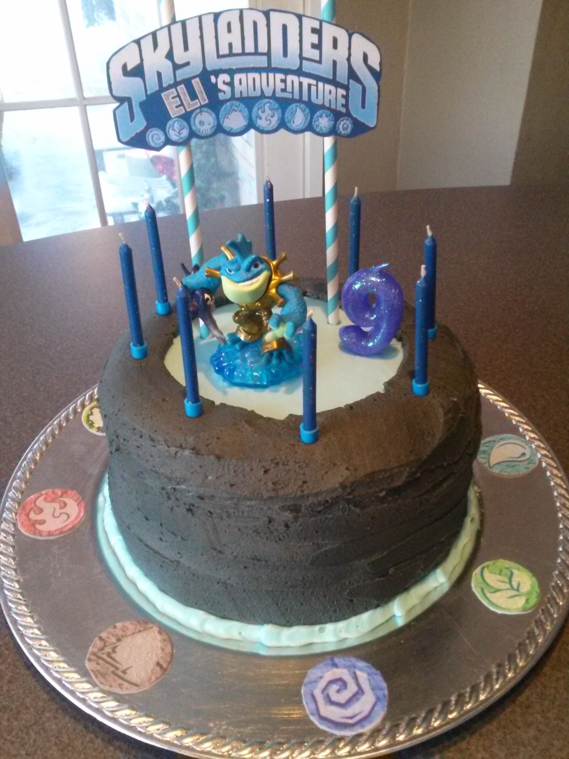 Awe Inspiring Skylanders Portal Of Power Birthday Cake No Fondant Used With Funny Birthday Cards Online Inifodamsfinfo