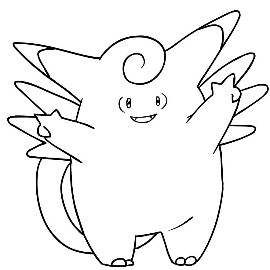 036 Clefable Pokemon Character Name Coloring Pages Name Coloring Pages Pokemon Coloring Pages Pokemon Coloring