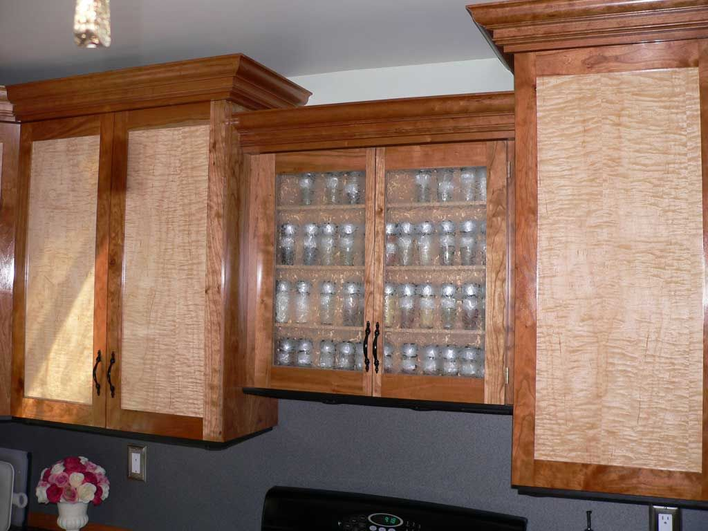 Maple Kitchen Cabinet Doors Curly Maple Cabinet Doors Cherry W Curly Maple Door