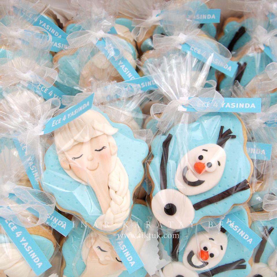 elsa- olaf cookie  Frozen