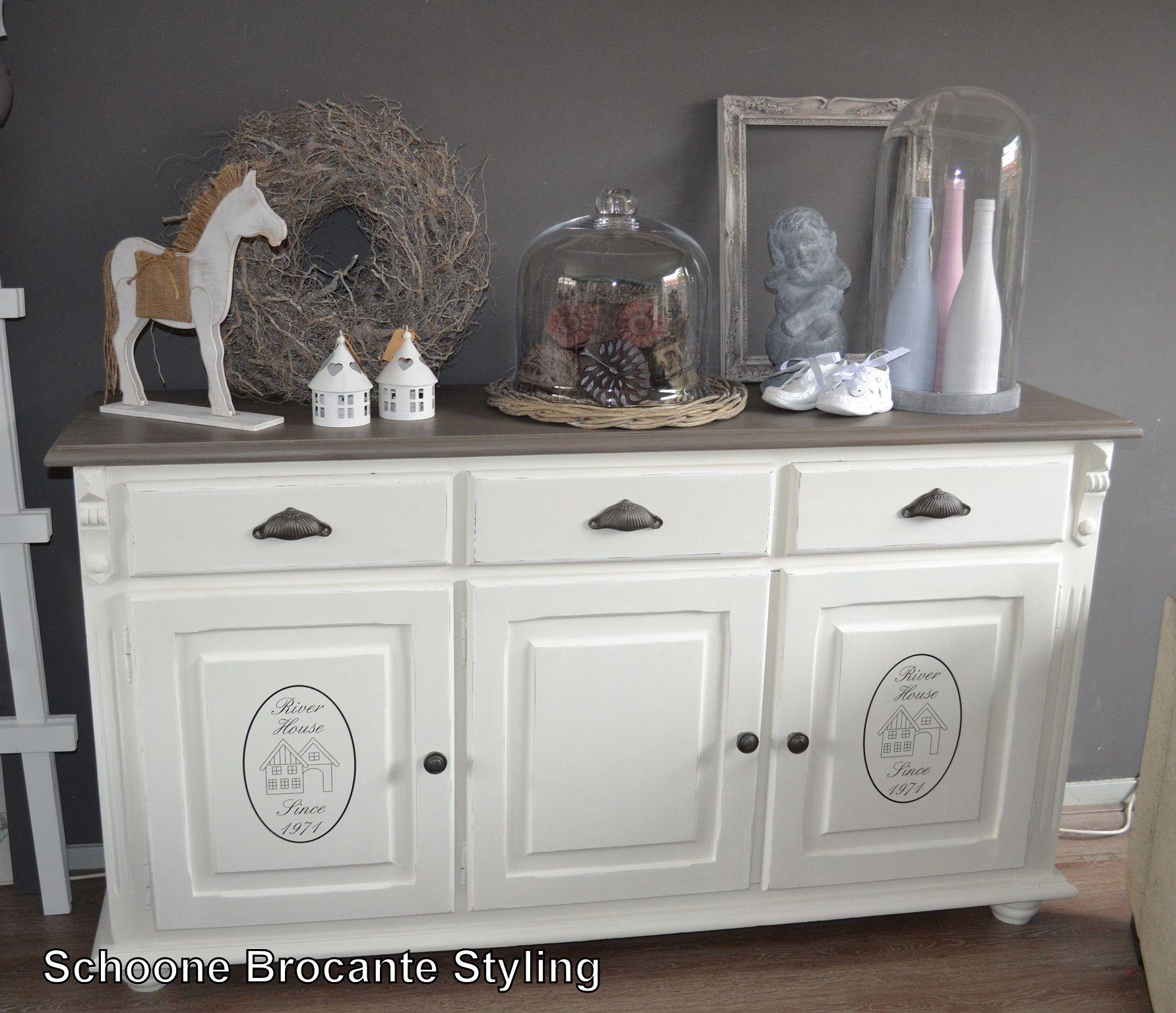 Landelijke dressoir 270 00 euro schoone brocante styling for Decoratie op dressoir