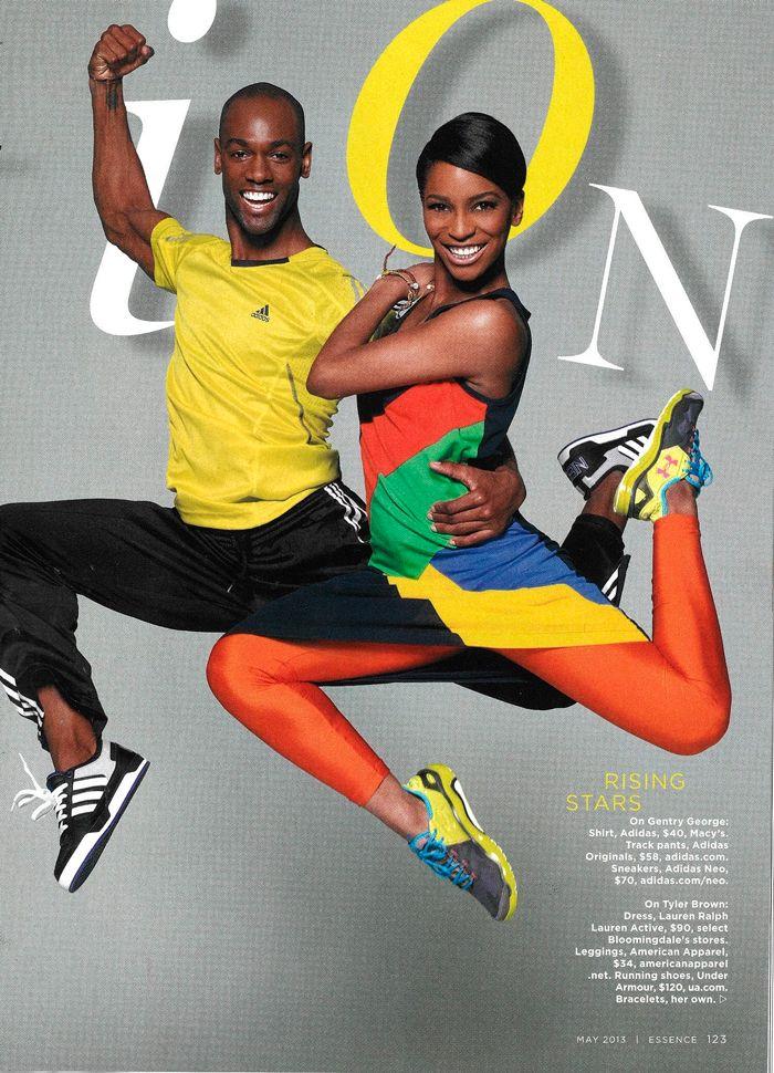 Lauren activewear is sporty-chic in Essence Magazine