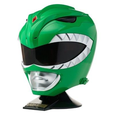 Bandai Mighty Morphin Power Rangers Legacy Green Ranger Helmet 1:1 Scale Cosplay