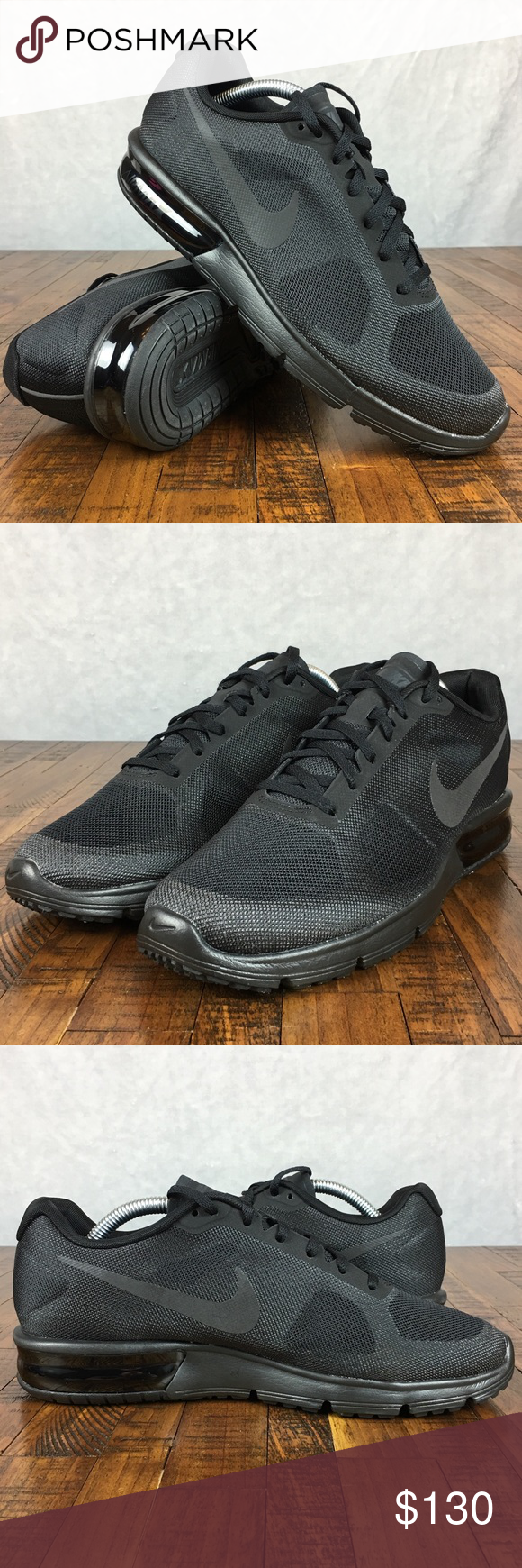 0efc00c924 NEW Nike Air Max Sequent Running Shoes 719916-099 NIKE AIR MAX SEQUENT  RUNNING SNEAKERS #719916-099 Size: 10, Womens Color: Triple Black  Condition: New ...