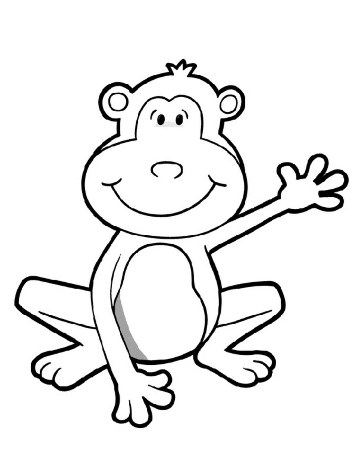 Animal coloring pages for kids | Monkey and Frogs