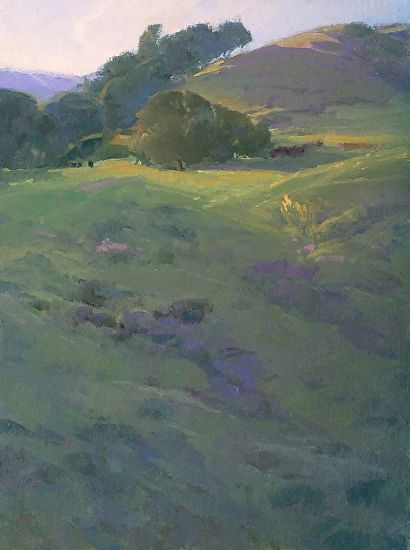 First Light, Cottontail Springs by Elizabeth Tolley  ~  Oil ~ 12 x 9