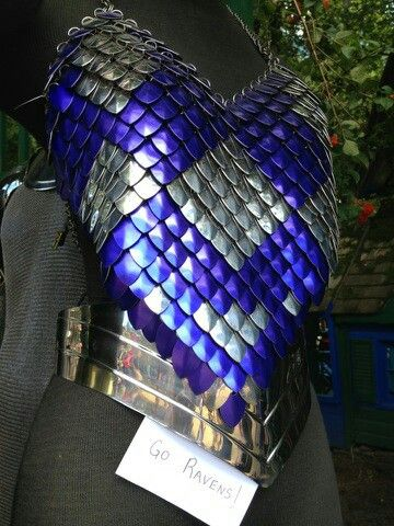 Diy Armor Idea Use Colored Plastic Spoons You Can Even Spray