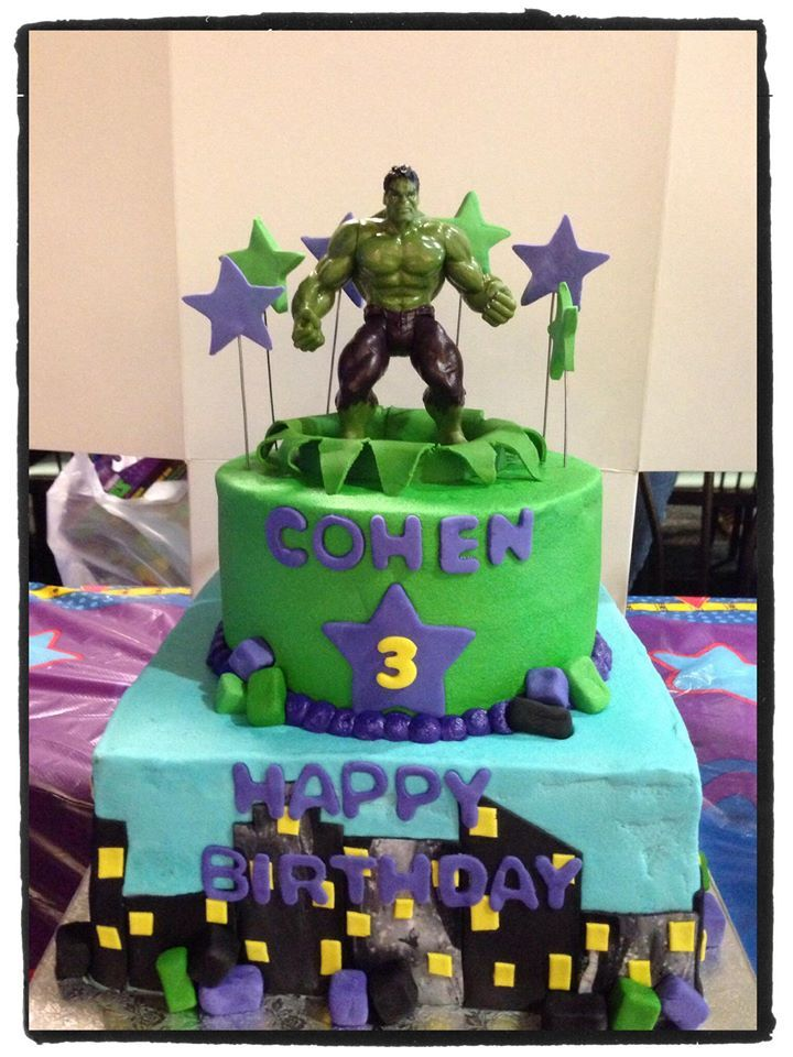 Incredible Hulk cake Cakes Pinterest Hulk cakes Cake and