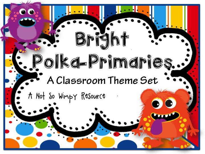 ($) This classroom themed set is perfect for the teacher looking to brighten up their room! It goes great with solid colored borders, letters and and fadeless paper (for bulletin boards). I designed this set to use in my own classroom because I wanted something different, bright and that was simple enough to match up with solid colored borders!