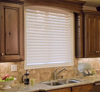 Fauxwood Blinds 2 1 2 Inch Performance Essentials P003 Silk White Wood Blinds Faux Wood Blinds Kitchen Faux Wood Blinds