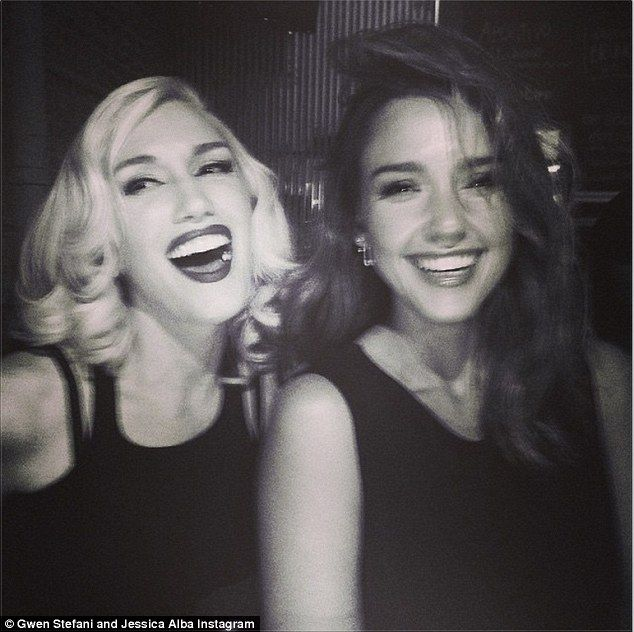 Best buds: Jessica Alba shared a selfie with Gwen during a Global Citizen festival event o...