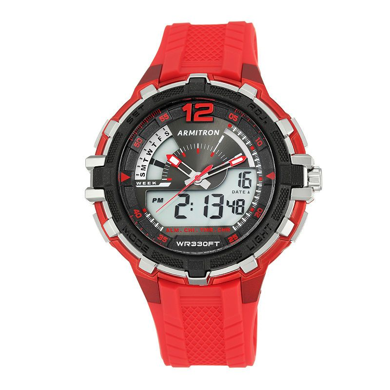 Armitron All Sport Mens Red Strap Watch20/5134red Armitron