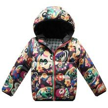 children boy girl winter snowsuit coat hooded baby kids flower parkas kid thick down jacket kid christmas clothes outerwear(China (Mainland))