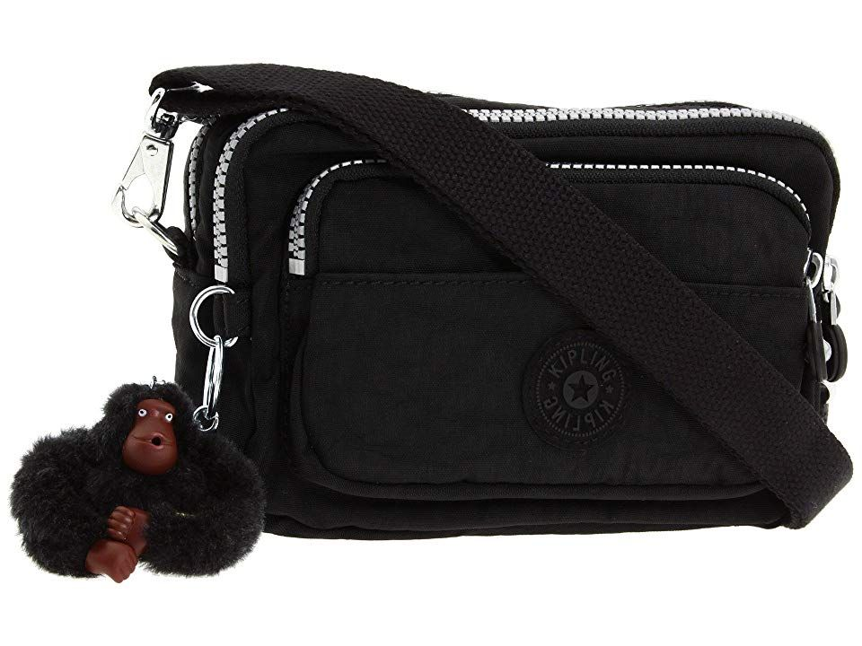 be420bd900f9 Kipling Multiple Belt Crossbody Bag (Black) Messenger Bags. An essential  for savvy travelers