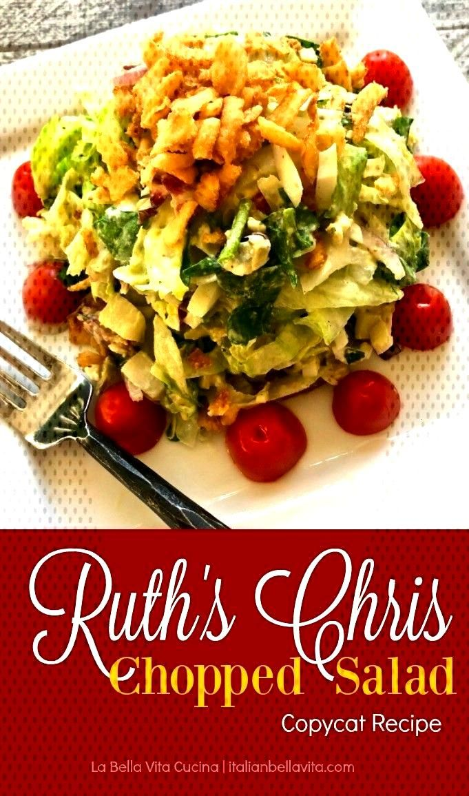 AMAZINGLY Delicious Ruth s Chris Chopped Salad Copycat recipe is the perfect salad mix of fresh spi