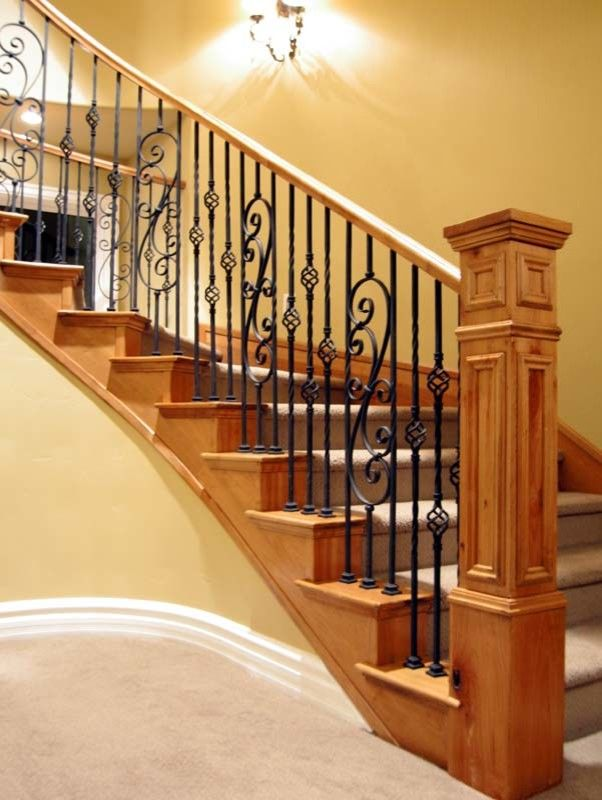staircase spindles wrought iron design check out deck railing