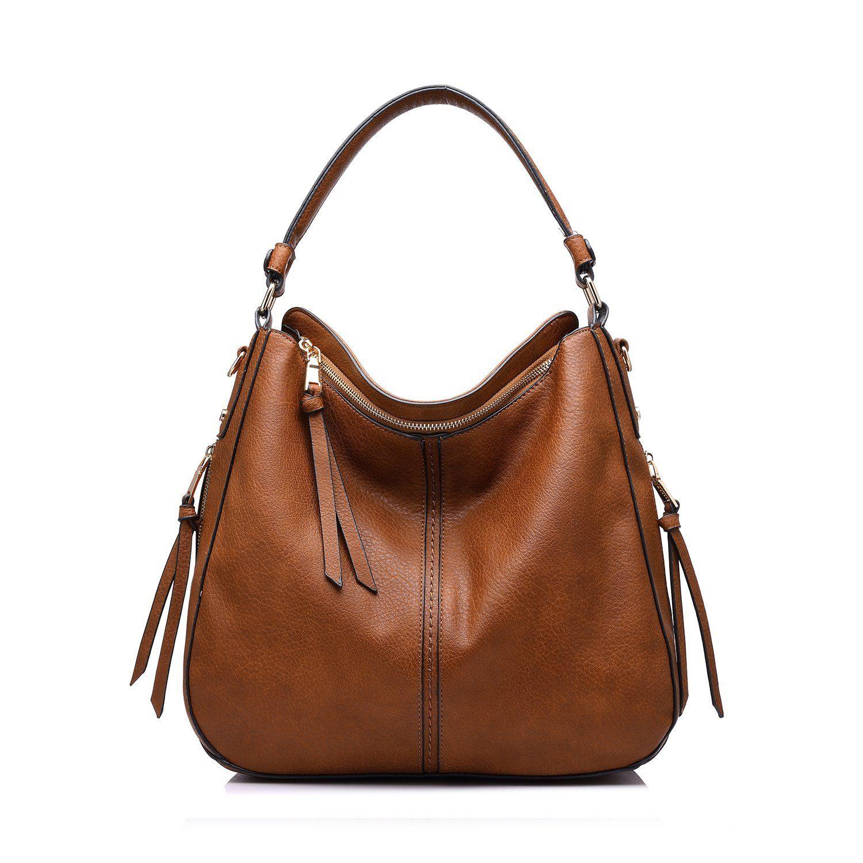 47fdb2d40c88 Realer Designer Handbag Purse PU leather Durable Shoulder Bag for Women s  Messenger Bag Light Brown  Handbags  Amazon.com