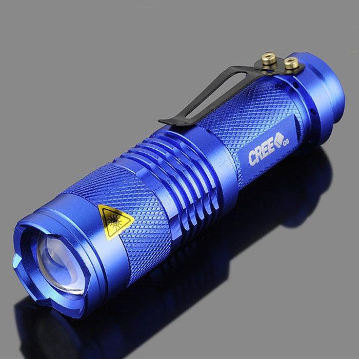 Lampe Bleu Portable Mini Led De Cree Poche Q5 2000 Zoomable Lumen rCQBWdxeo