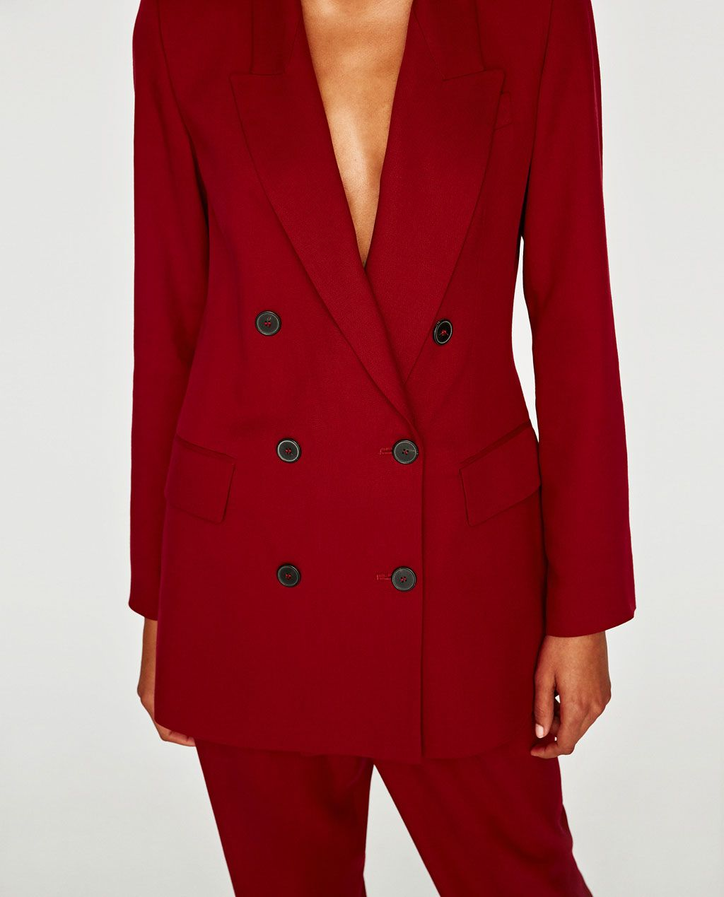 8a321b13 DOUBLE-BREASTED TAILORED JACKET-BLAZERS-WOMAN | ZARA United States ...
