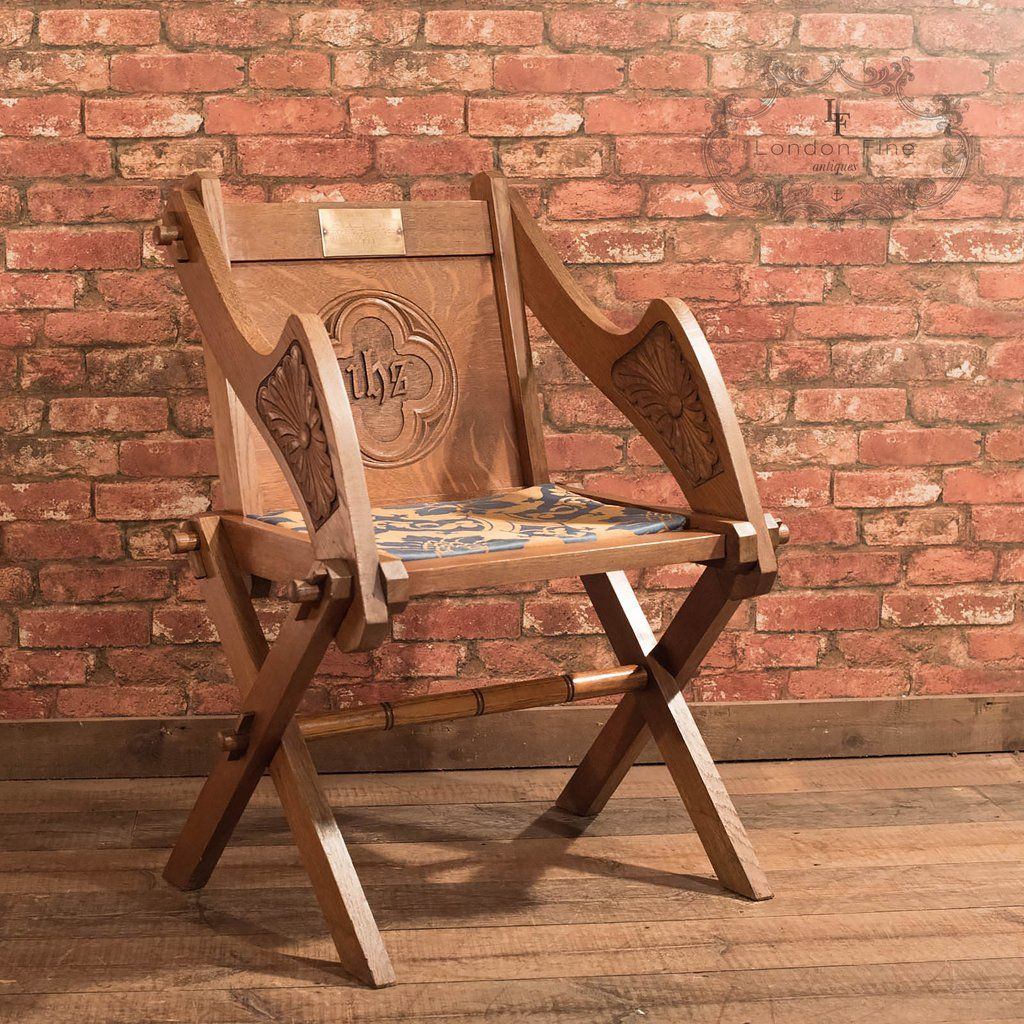 Antique chairs - Antique Glastonbury Chair, Early C20th In Oak Furniture