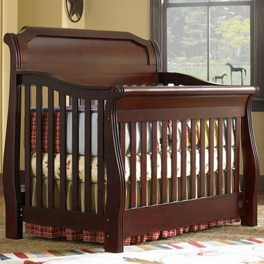 Pennsylvania Sleigh Crib Classic Cherry 6566294 By Kathy Ireland By La Jobi    I Like This
