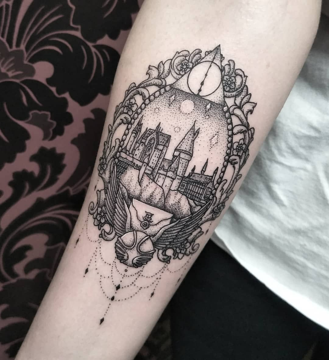 Thoroughly enjoyed making this Hogwarts piece for Rachael