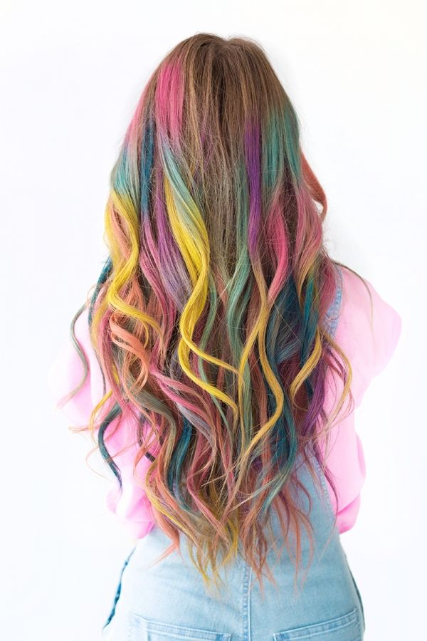 diy temporary colombr hair