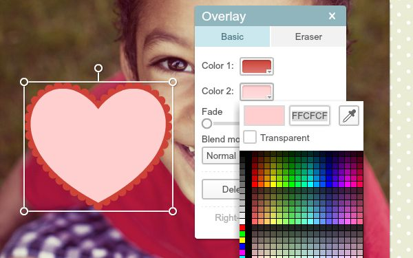 tutorial using two color overlays overlays online photo editing