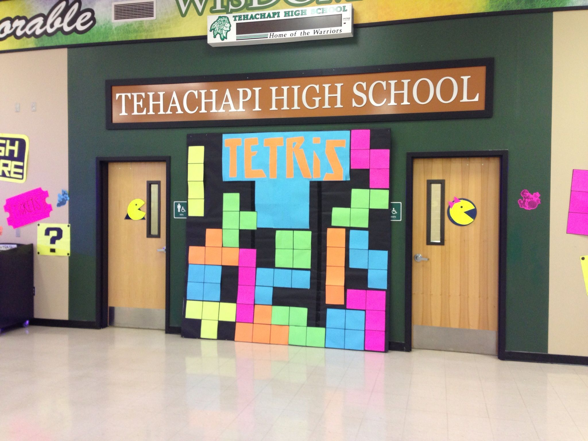 Video Game themed dance decorations Tetris Video games