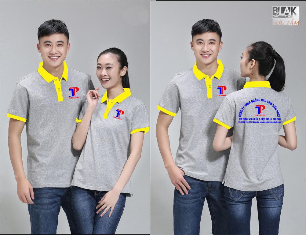 Mẫu áo thun đồng phục công ty Quảng Cáo Tâm Tiến Phát - Hình 4