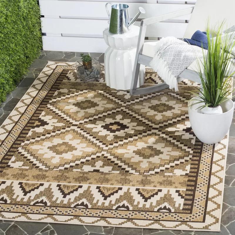 Rangely Brown Indoor/Outdoor Area Rug #indoorpaintcolors