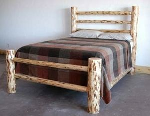 Lodge Bed Rustic Bedroom Furniture Lodge Craft Log Bedroom
