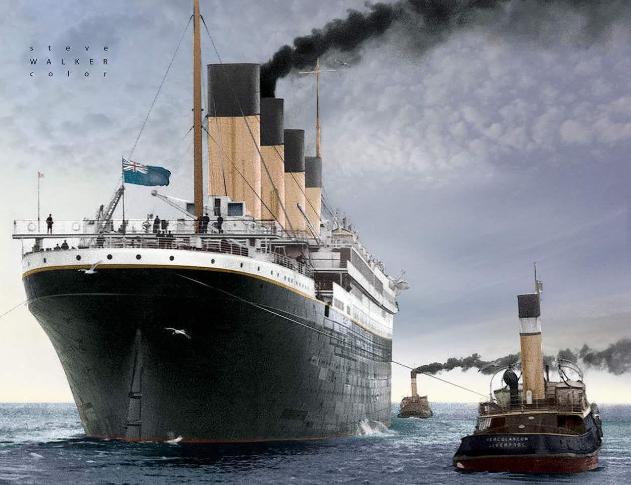 Colorized Photo Of Titanic Titanic Ship Titanic Rms Titanic