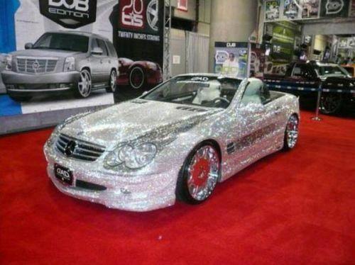 Sky-High: Prince Al Walid Bin Talal owns a handmade Mercedes SL600 car made from diamonds and Swarovski crystals.