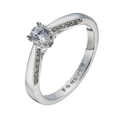 The Forever Diamond 18ct White Gold 25 Carat Solitaire Ring H