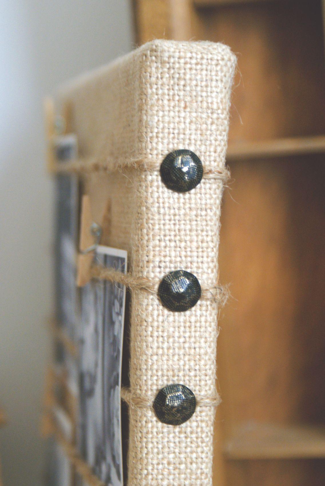 Burlap Craft Ideas For Christmas Part - 45: DIY Burlap Memo Board