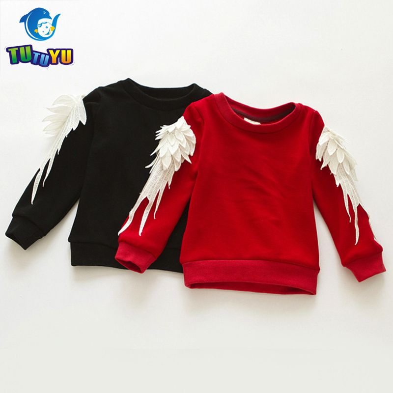 b48f17c2ea2d1 TUTUYU New Girls T Shirt Thicken Fleece Wing Sweatshirt For Girls Kids Tops  Tees Fashion Baby Children's Long Sleeve T Shirts //Price: $35.98 // #kids