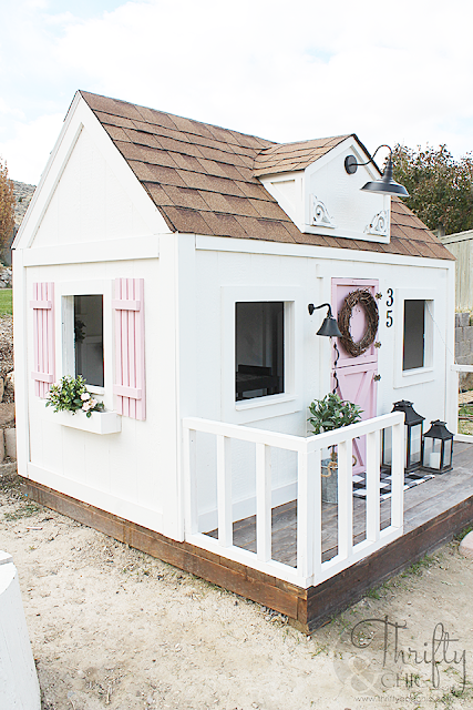 Photo of DIY Farmhouse Style Outdoor Kids Playhouse (My Biggest Project Ever!)