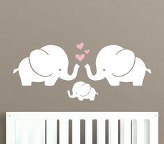 Project Nursery - Elephant Nursery Wall Decal from Decal Lab
