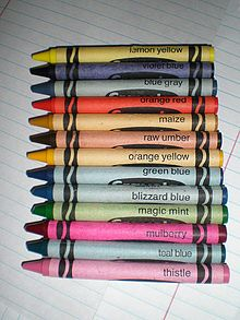 Old Crayola Crayons Before They Were Retired Crayola Crayon