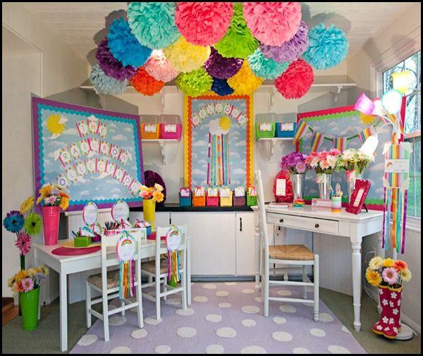12 decorative paper poms decorative paperclassroom designclassroom organizationclassroom ideasowl - Classroom Design Ideas