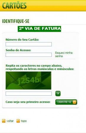 2ª Via Da Fatura Do Cartao Panamericano Fatura Do Cartao Carta