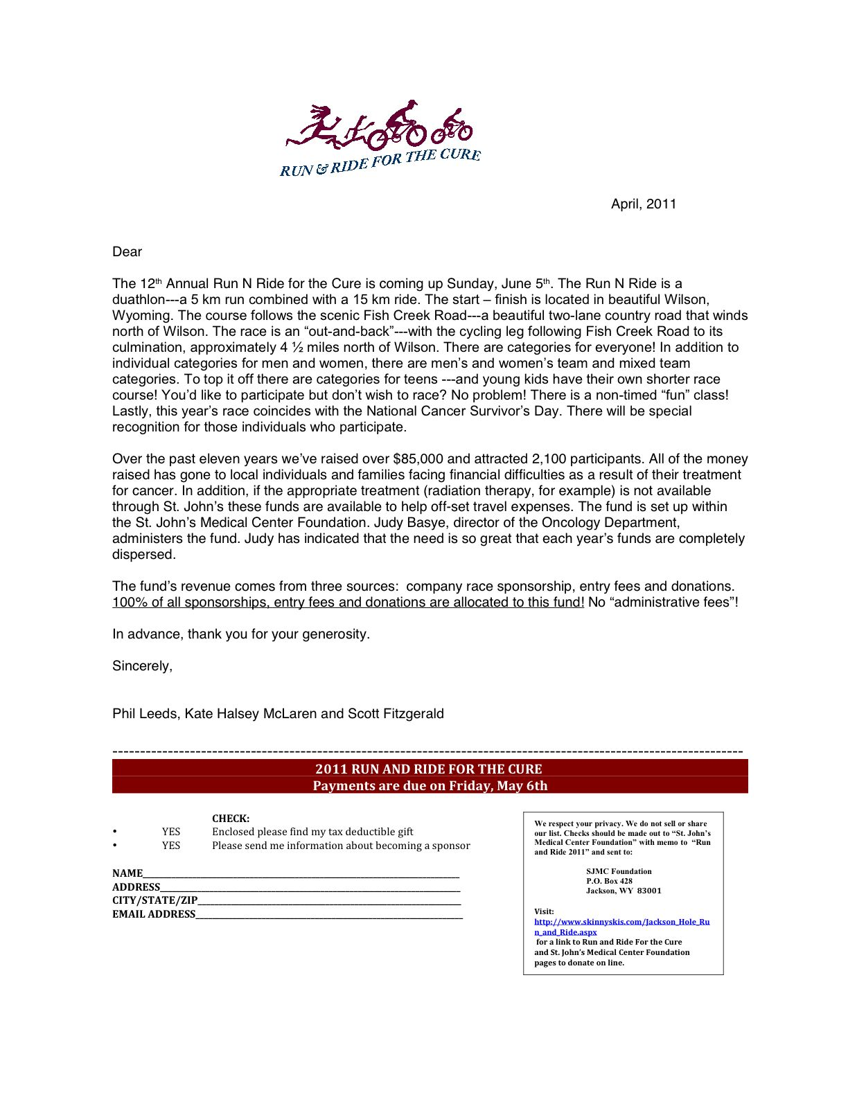 Event Sponsorship Letter Example Image Result For Sponsorship Application Template  Sissy's Angels .