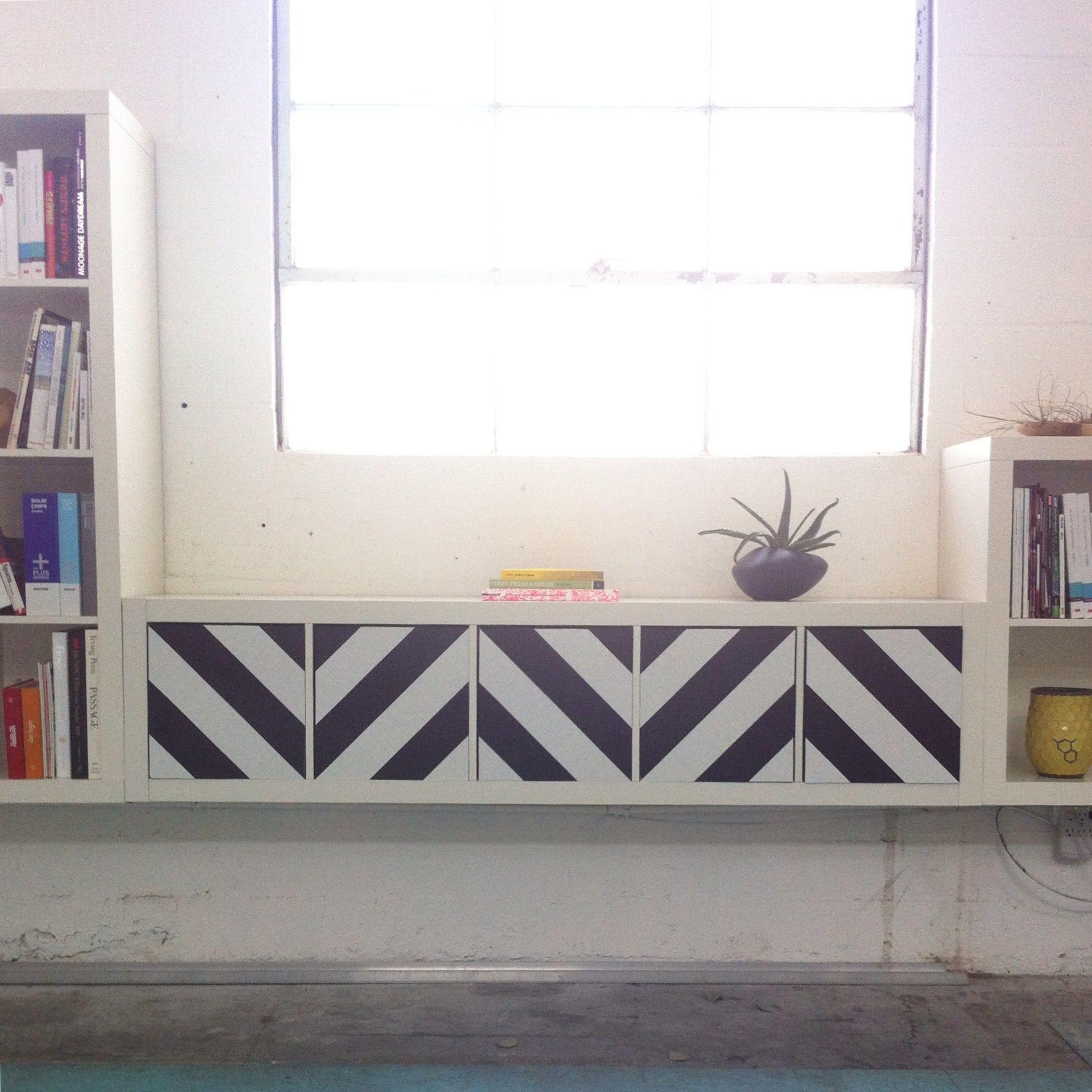 PANYLhacks: Black U0026 White Chevrons On IKEA Expedit | PANYL Is The Easiest,  Fastest Idea