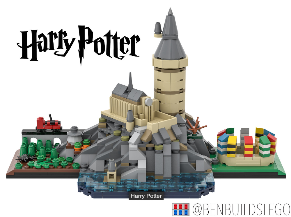 Lego Harry Potter Hogwarts Skyline Moc Lego Harry Potter Moc Lego Hogwarts Lego Activities