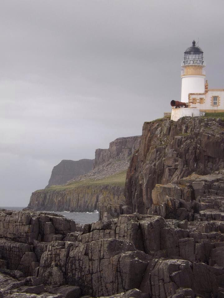 Neist point lighthouse from nearby lighthouse natural